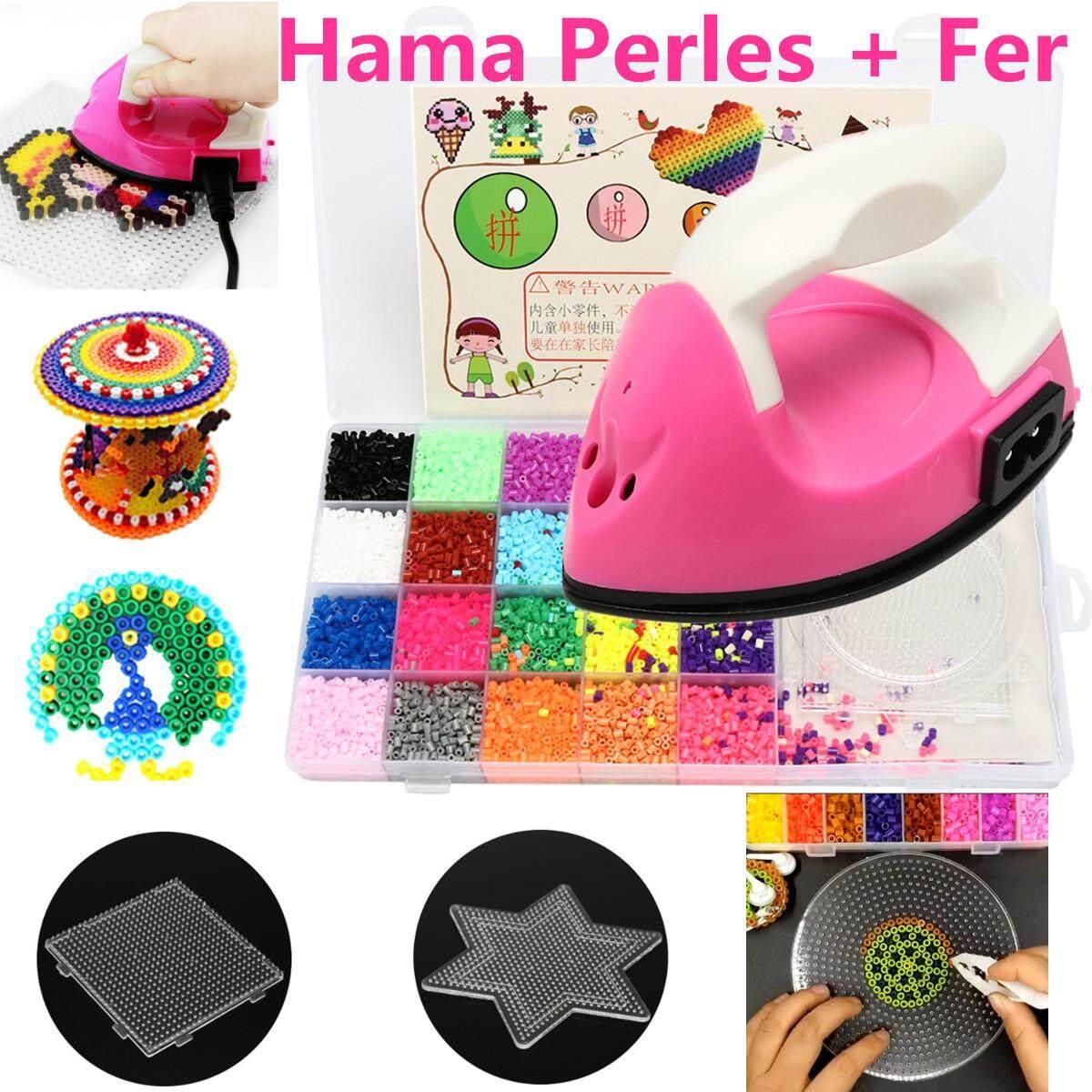 ชุดลูกปัดรีดเตารีดขนาดเล็กสำหรับ Hama Perler ลูกปัดแม่แบบเด็ก Handmade แบบพกพา Diy อุปกรณ์ของขวัญ.