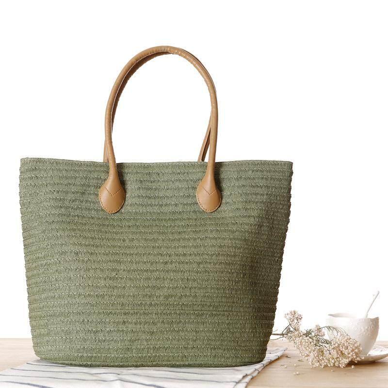 2019 New Straw Bag Single Shoulder Bag Fashion Simple Travel Beach Woven Womens Bag