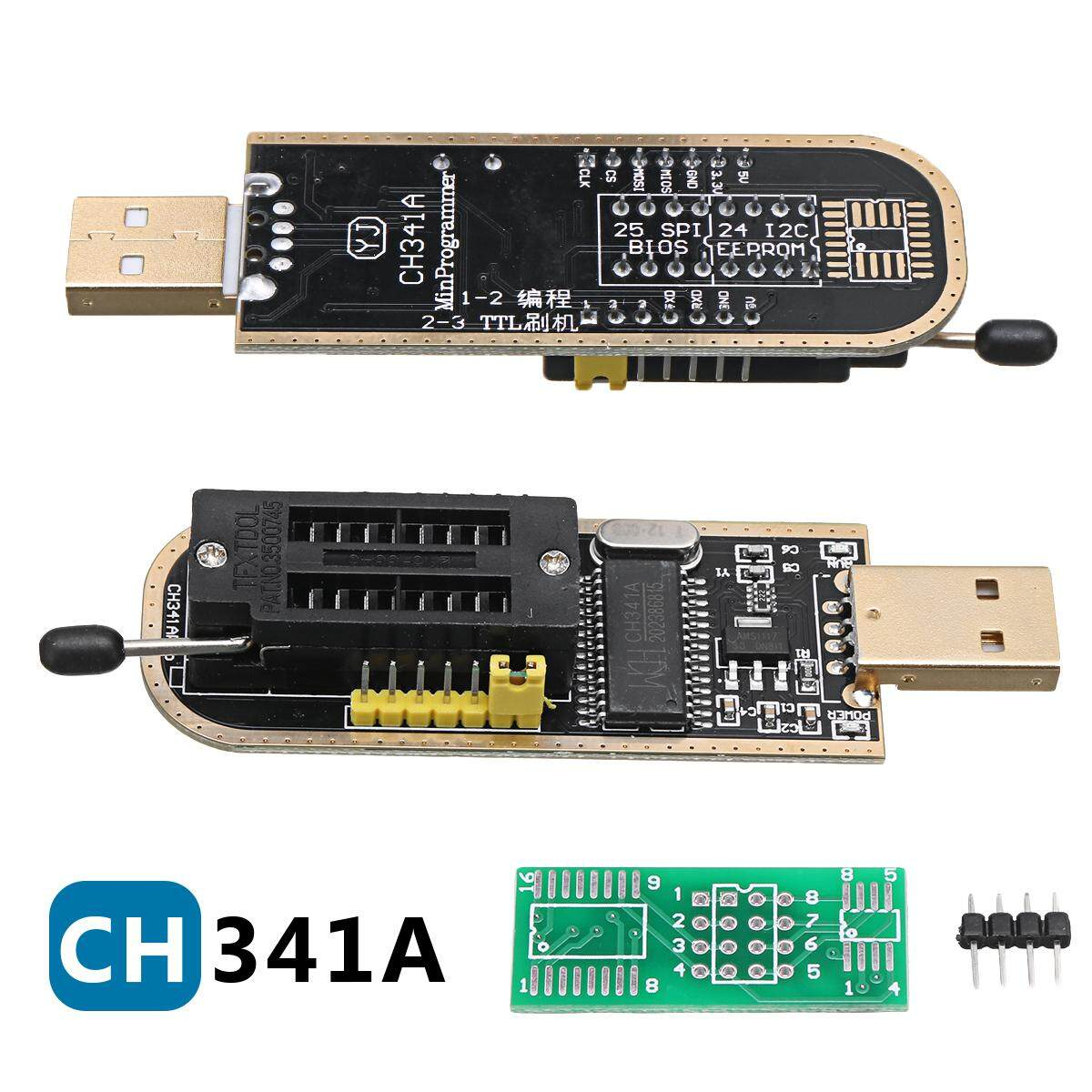 Usb โปรแกรมเมอร์ Ch341a Series Burner Chip 24 Eeprom Bios Writer 25 Spi Flash By Autoleader.