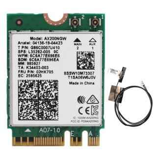 Thẻ Wifi M.2 Có Ăng Ten Kép Phụ Kiện Máy Tính AX200NGW 802. Ăng Ten Trong 11ax NGFF Bluetooth 5.1 2 thumbnail