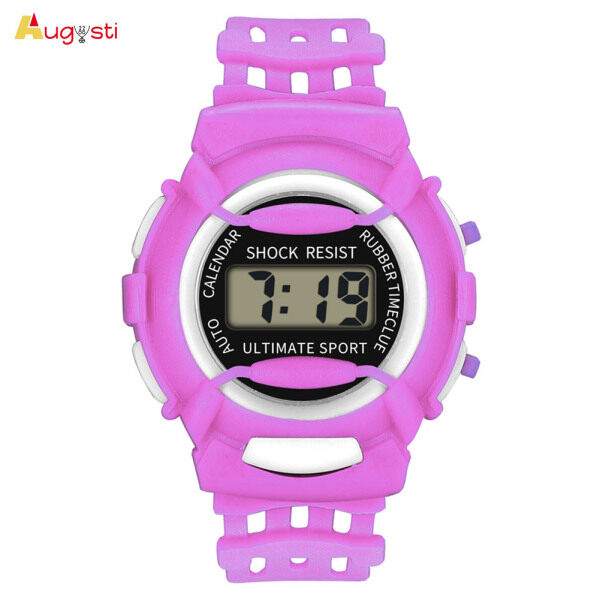 Augusti Kids Casual Electronic Watch Children Silicone Sports Watches Lightweight and Durable Malaysia