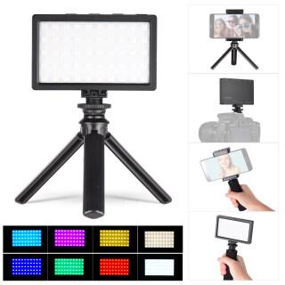 LIYADI Bộ Đèn Camera Màu RGB Với 50 Hạt LED Đèn LED Quay Video Mini Có Thể Sạc Lại, 9 Chế Độ Chiếu Sáng 12 Mức Độ Sáng Đèn Chiếu Sáng Máy Ảnh Nhiệt Độ Màu 3200 5600K Có Kẹp Điện Thoại Di Động + Tay Cầm + Giày Nóng thumbnail