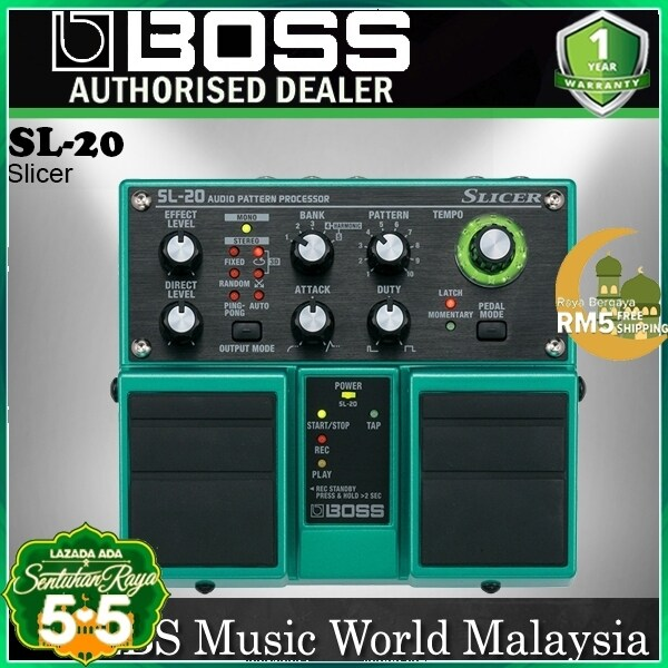 Boss SL-20 Slicer Audio Pattern Processor Effect Pedal for Electric Guitar (SL20 SL 20) Malaysia