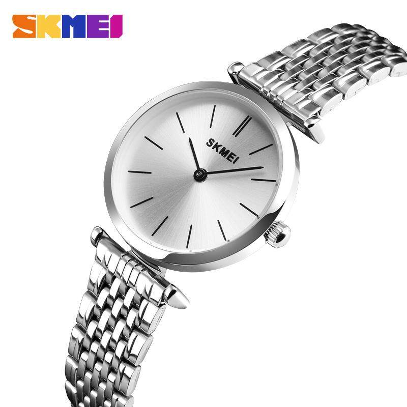 SKMEI Fashion Casual Quartz Women Watches 30m Waterproof Stainless Steel Strap Ladies Dress Watches Small Dial Ladies Watches Malaysia