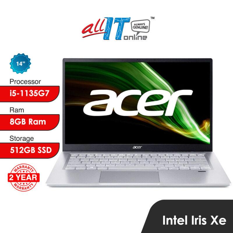 Acer Swift 3 SF314-511-51YL,559D (i5) / SF314-511-77XX (i7) Laptop (14 FHD,512GB SSD,W10H,H&S) Malaysia