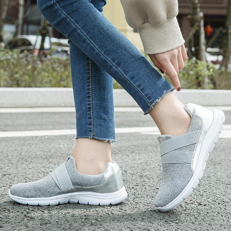 f10b45ab179 Women Shoes Slip-On Casual Flat Loafers For Women Fashion Sneaker Women  Shoes Breathable Women Walking Shoes