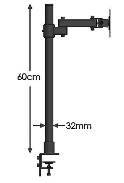 Bảng giá Dl-T801 10-27  Thép Một Chống TV LCD Đế Để Bàn Nghiêng 360 Xoay Màn Hình Giá Để Bàn VESA 75 100 Chuyển Động Linh Hoạt Khung Phong Vũ