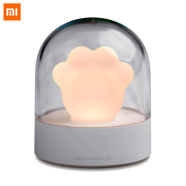 Xiaomi Cooperation Brand 3 Life Cat Claw Shape Touch Musical Night Light Lamp LED Ambient Lights Decorative Cartoon Cute Cat Claw Shape Lamp For Bedside Living Room Bedside Musical Lamp Cats Paw Lamp for Christmas Gift