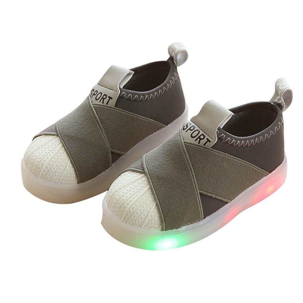 Giá bán Thời trang Cho Bé Trai Bé Gái Màu LED Giày Trẻ Em Bằng Giản Thể Thao