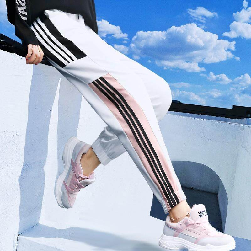 Ins Pants Sports Pants Womens Pants Spring And Autumn Bf Harajuku Loose Korean Version Of Wild Ulzzang Students Pants By Yiyi Fashion.