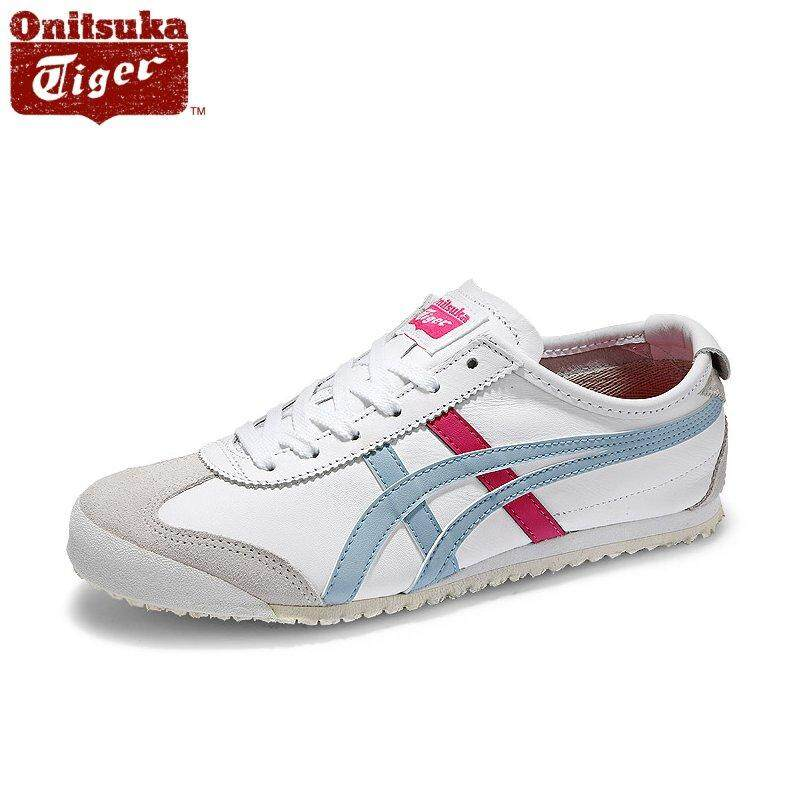 new styles e5f42 f6494 Onitsuka Tiger New Women's Mexico 66 HL474_0140 White/Light Blue/Hot Pink  Sneaker