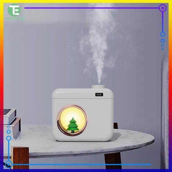 Lovely Camera Shape Air Humidifier Cool Mist Maker Spraying Purifier Home Office Appliances Singapore