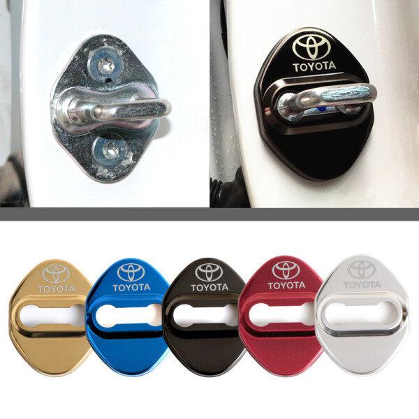 4 Cái Nắp Khóa Cửa Xe Ô Tô Bằng Nhôm Miếng Dán Chống Gỉ Cho Toyota Corolla Phụ Kiện Miếng Dán Xe Hơi Chr Auris Rav4 Yaris Avensis