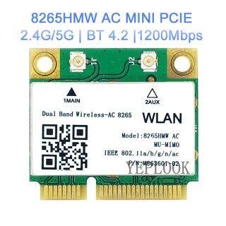 Wireless-AC 8265 8265HMW 8265AC 867Mbps Băng Tần Kép 2.4G 5Ghz 802.11ac 2X2 WiFi + Bluetooth BT4.2 Thẻ WIFI PCIe Mini Thẻ Mạng Không Dây Cỡ Nửa thumbnail
