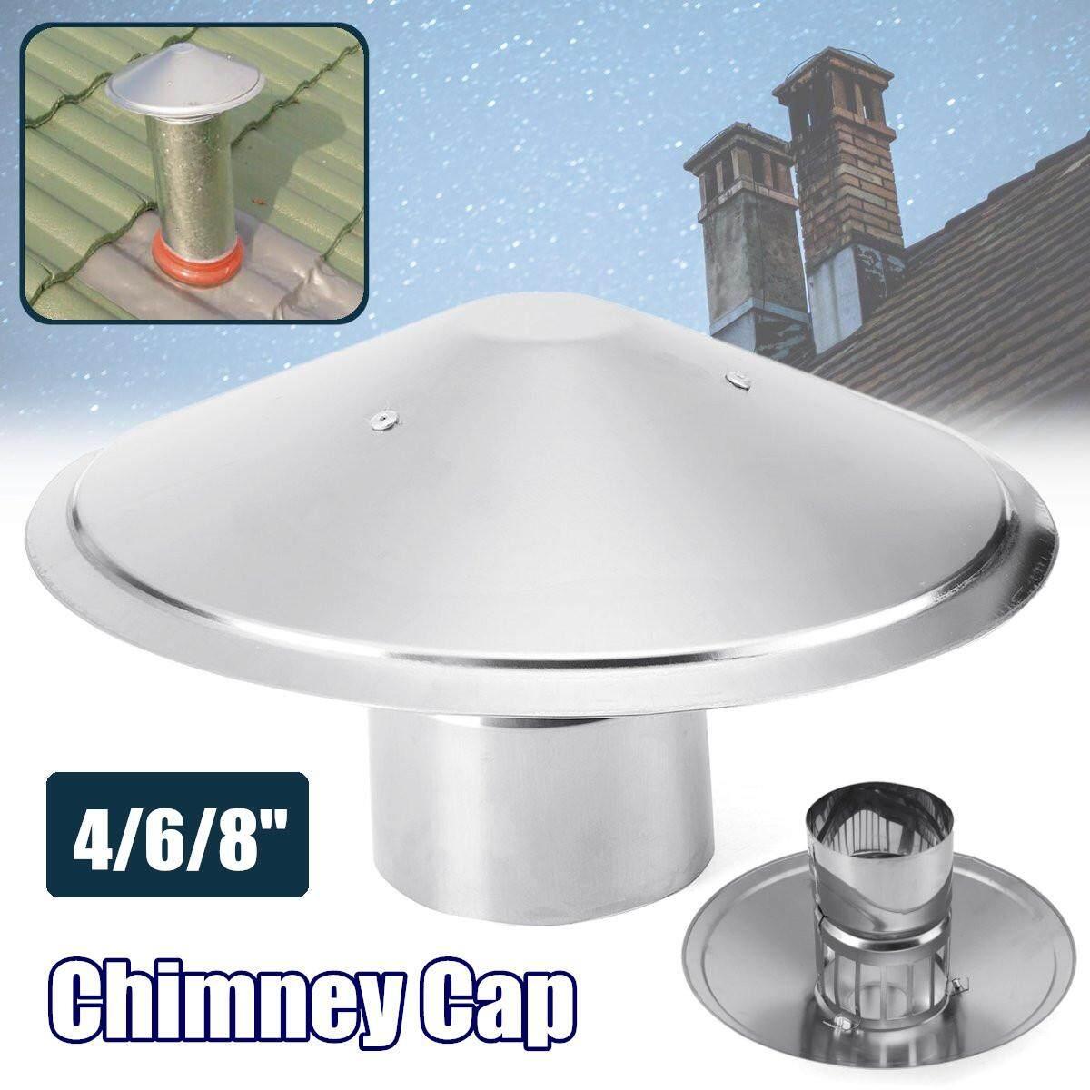 4inch Stove Pipe Chimney Cap Galvanized Iron Mushroom Shaped Roof Ventilation