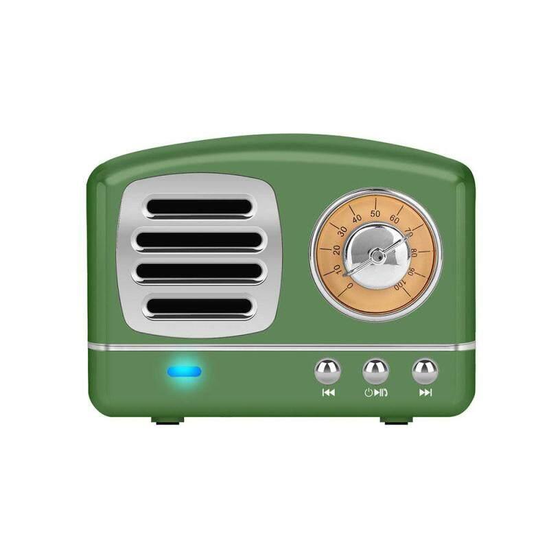 Loa Mini Wir-less Retro Micrô Tích Hợp Hỗ Trợ Kết Nối BT Thẻ TF Đầu Vào USB AUX Cho Bữa Tiệc Trắng