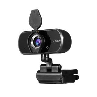 Webcam USB HD 1080P Có Vỏ Bảo Mật, Máy Quay Hội Nghị Video Lấy Nét Thủ Công Micrô Tích Hợp Dành Cho Máy Tính Xách Tay Để Bàn Màu Đen thumbnail