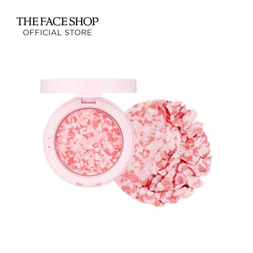 THE FACE SHOP MARBLE BEAM BLUSHER 01 LOVELY PINK