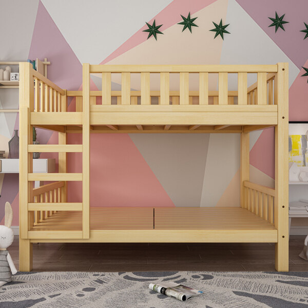 Bunk Bed Wooden Bed Solid Wood Height-adjustable Bed bunk bed Adult Children Adult Dormitory Bed Bunk Bed Bunk Bed