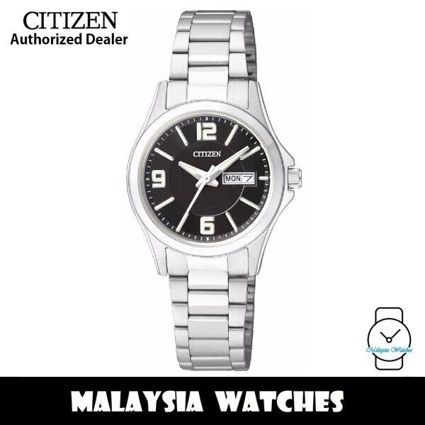 (100% Original) Citizen EQ0597-50E Quartz Analog Black Dial Mineral Glass Stainless Steel Ladies Watch (3 Years Citizen Warranty) Malaysia