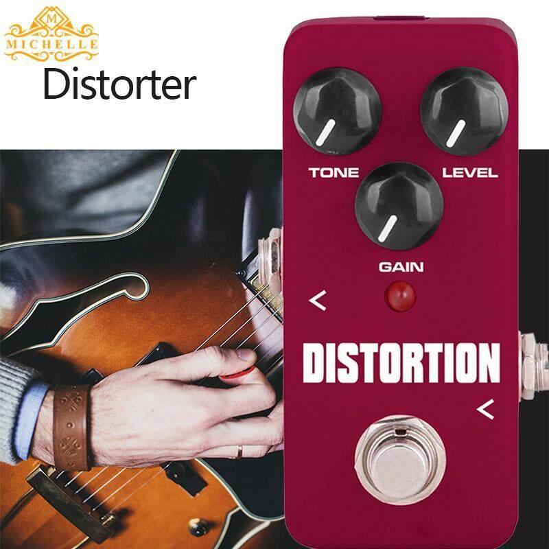 Penyetel Gitar Pedal Gitar Loop Pedal Gitar Efek Pedal Tahan Lama Anggur Portabel Merah FDS-