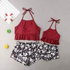 Cho Em Bé!!! Gia Đình Phù Hợp Với Đồ Bơi Hoa Mẹ Con Gái Phụ Nữ Áo Tắm Hai Mảnh Đồ Bơi Trang Phục Đi Biển Trang Phục 2-10 Tuổi