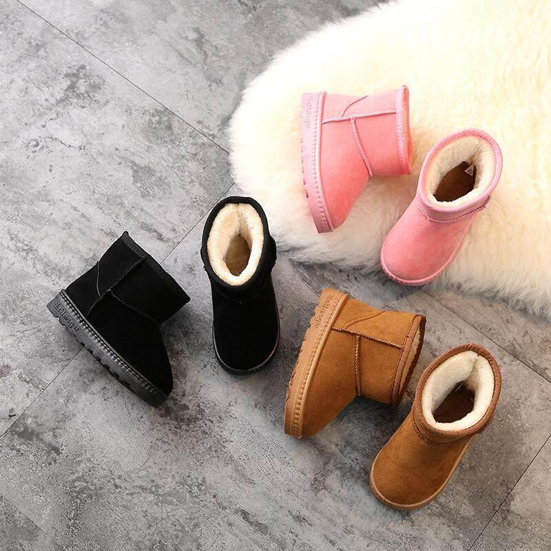 Giá bán Mới Giày Trẻ Em Ủng Màu Retro Bé Trai Cô Bé Mùa Đông Ấm Plus Cotton Ủng