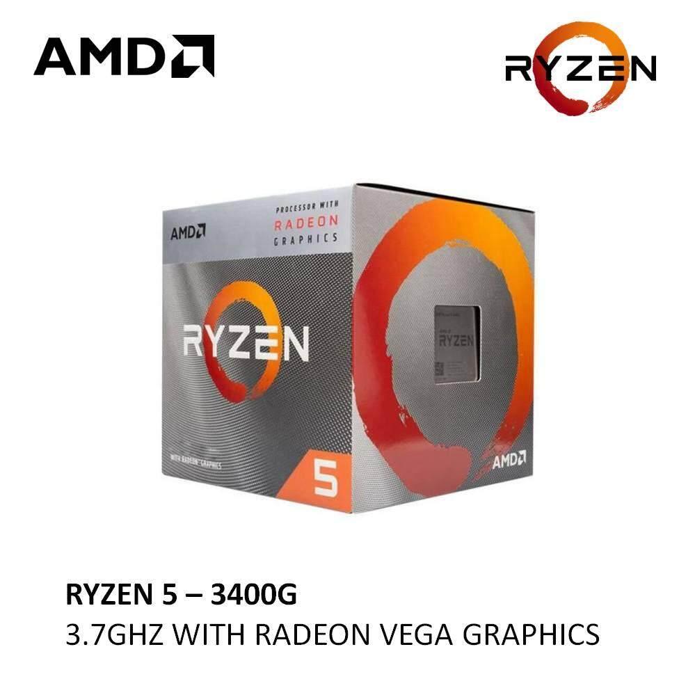 Amd Ryzen 5 3400g With Radeon Rx Vega 11 Graphics Processor Lazada Ph