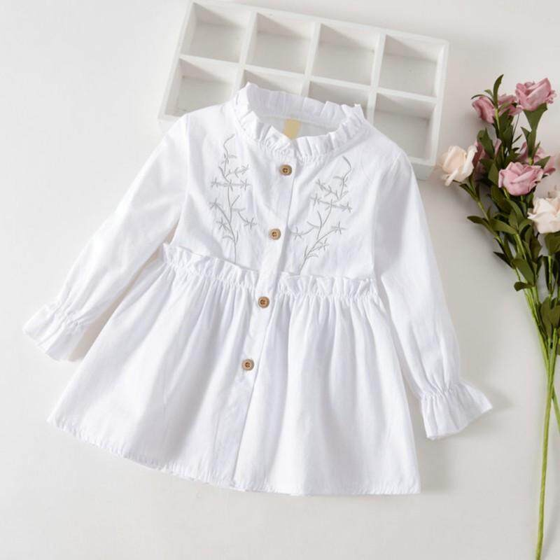Spring Kids Girls Casual Long Sleeve Princess Dress By Ropalia Store.