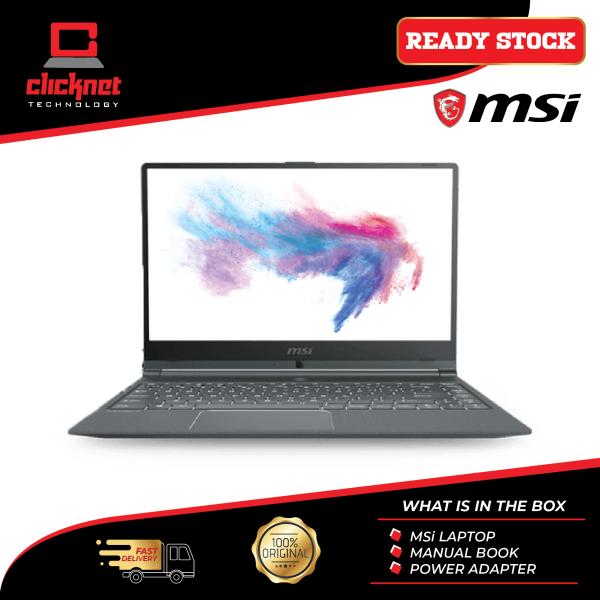 MSI Laptop Modern 14 A10M-670 14 -Inch FHD IPS Grey ( i7-10510U, 8GB, 512GB SSD, Intel, W10 ) Malaysia