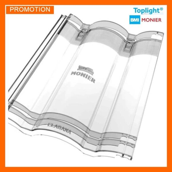 BMI Monier Elabana Toplight Transparent Tiles Clear Free Light Easy To Install Genting Terang Cerah Cahaya Percuma Senang Dipsasang Original 透明瓦免费阳光容易安装