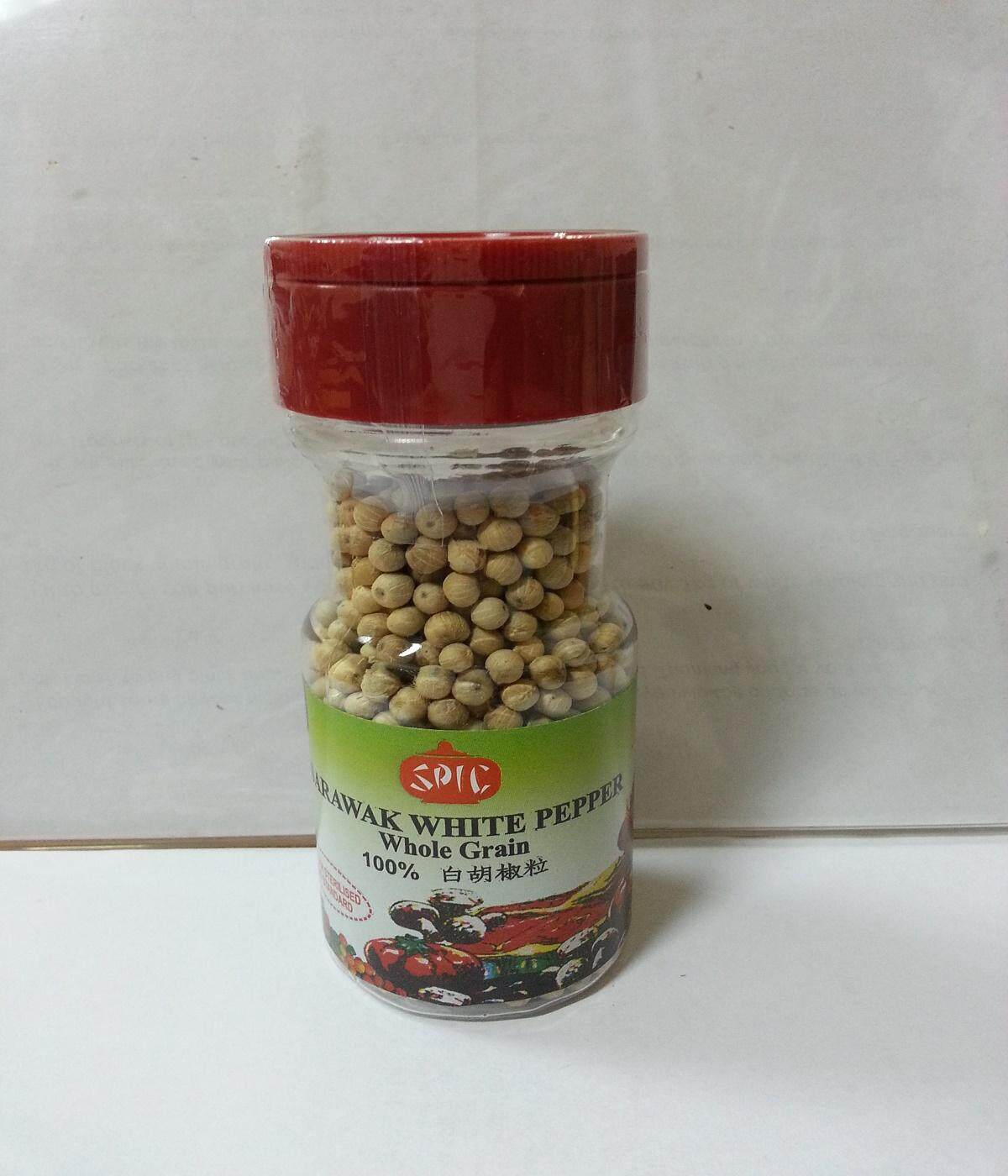 Best Quality 100% Pure Sarawak White Pepper Whole (60gm)- (PET)