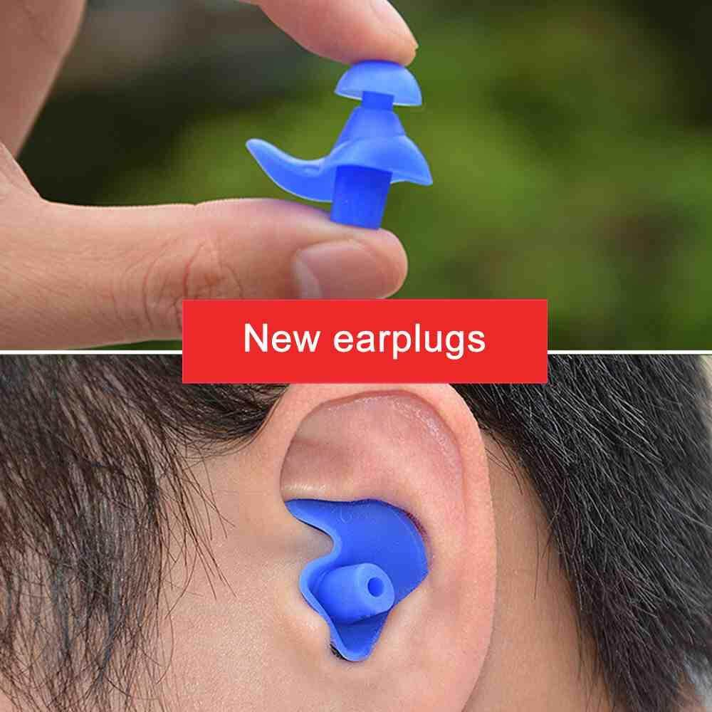 Jnan 1 Pair Soft Silicone Ear Plugs Environmental Waterproof Dust Proof Sports Swimming Ear Plugs Water