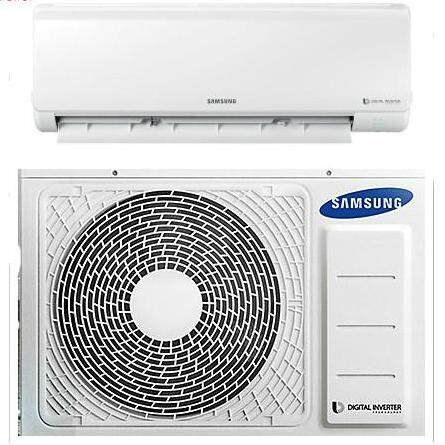 Samsung AR09MVFHJWKNME AR5500M Inverter Deluxe Wall-Mount Air Conditioner with 8-Pole Inverter 1.0 HP