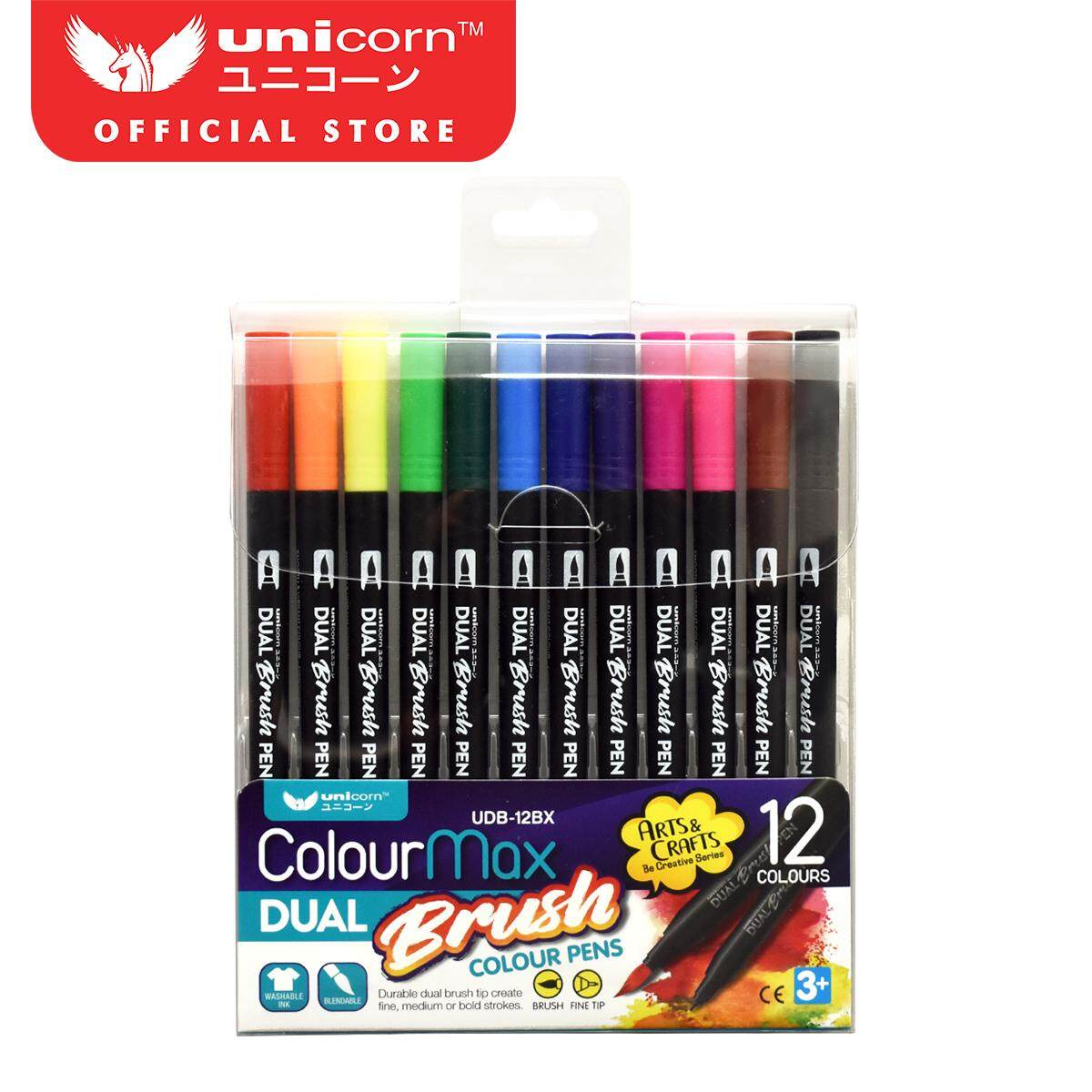 Unicorn Dual Brush Pen UDB-12BX