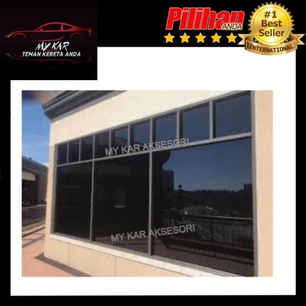 EASY DIY High Quality Window Tint Film FREE TOOL - House/Building- Reject Heat Infra Red 95% & Privacy 99% UV Protection Black VLT 5%