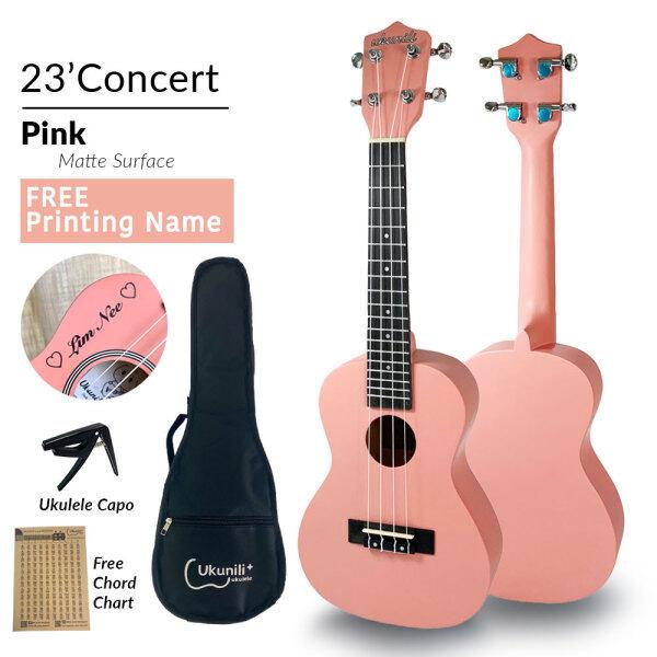 Ukunili Ukulele Concert 23 High Quality Concert 23 Pink (Matte) + Free Padded Bag Malaysia