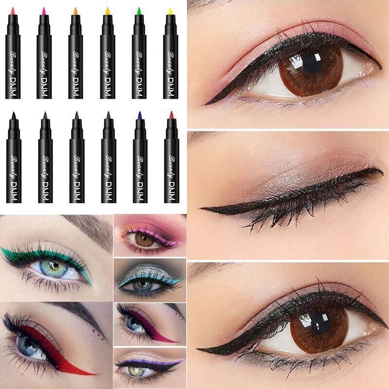 12 Warna DNM Make Up Eyeliner Pensil Make Up Tahan Air Kecantikan Mudah Memakai Pena Eye Liner Kosmetik Tahan Lama Kecantikan Mata Pensil