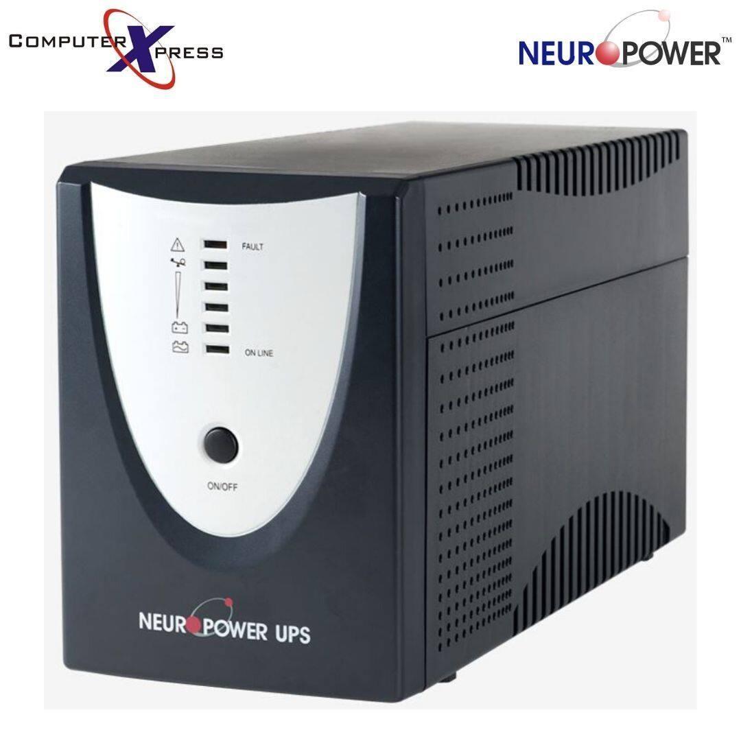 NEUROPOWER BLACK PRO NP-BP1K2E 1200VA LINE INTERACTIVE UPS BACKUP BATTERY POWERTANK