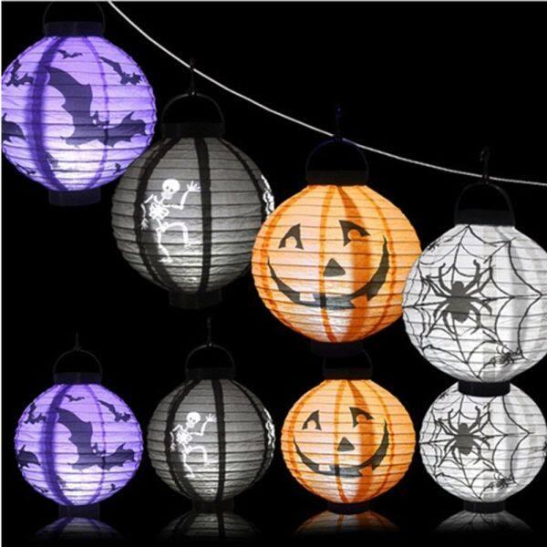 Bảng giá BISCUSM Rùng Rợn Trang Trí Halloween Trong Vườn Có Đèn LED Hộp Sọ Bí Ngô Lồng Đèn Giấy Đèn Lồng Kinh Dị Đèn Treo Tường Đồ Dùng Cho Bữa Tiệc Halloween