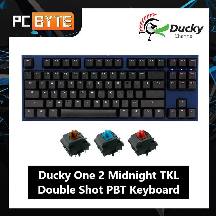 Ducky One 2 Midnight TKL Double Shot PBT Mechanical Keyboard [Cherry MX Brown/ Blue/ Red]
