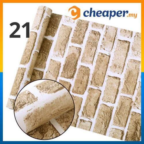Variety Brick and Stone pattern Wallpaper Waterproof Wall Sticker Home Decor