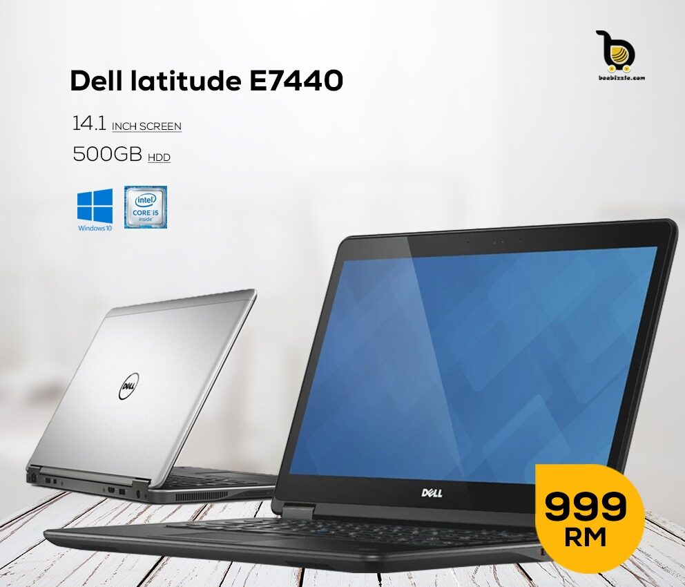 Dell Latitude E7440 Ultrabook, Intel Core i5 Processor, 4GB RAM, 500GB HDD, 14.1 Inch, WINDOWS 10 .... Malaysia