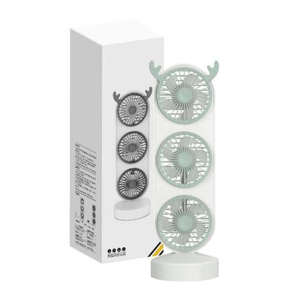 Quạt Mini, Quạt Để Bàn Nhỏ Cầm Tay USB Sạc Được Ba Đầu