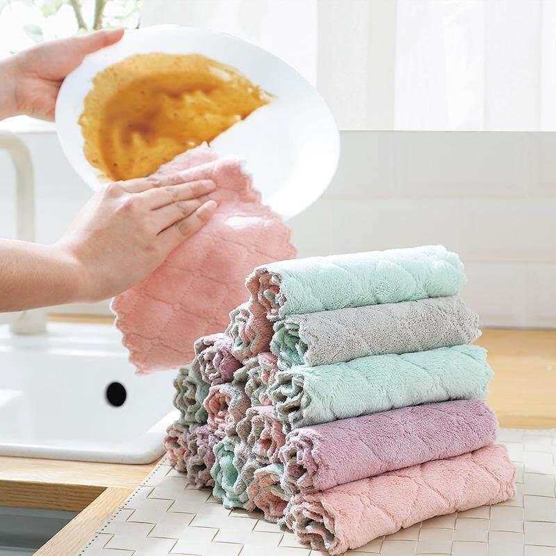 3 Pcs Serbet Penyerap Menebal Handuk Taplak Meja Minyak Dapur Tidak Ada Rambut Handuk Pembersih (warna Acak) By Zparka.