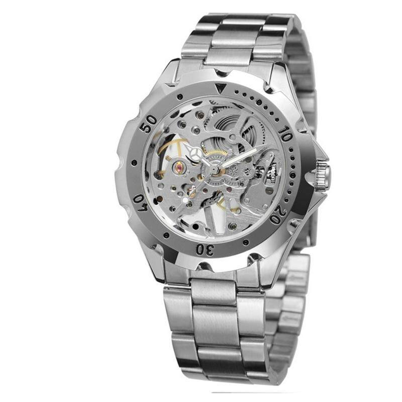 Men Automatic Mechanical Wrist Watch with Stainless Steel Band (Silver) Malaysia