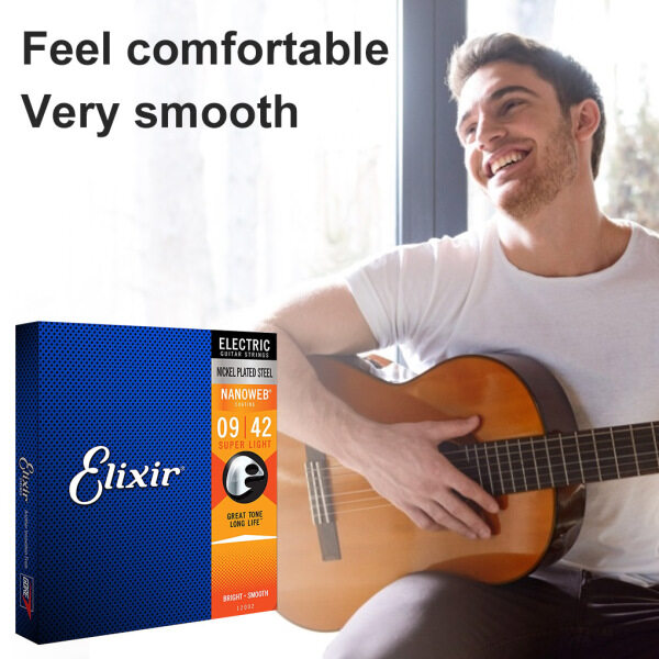 6Pcs Electric Guitar Strings Set Smooth Coating Super Light Anti-rust Strings for Elixir 12002 9-42 Malaysia