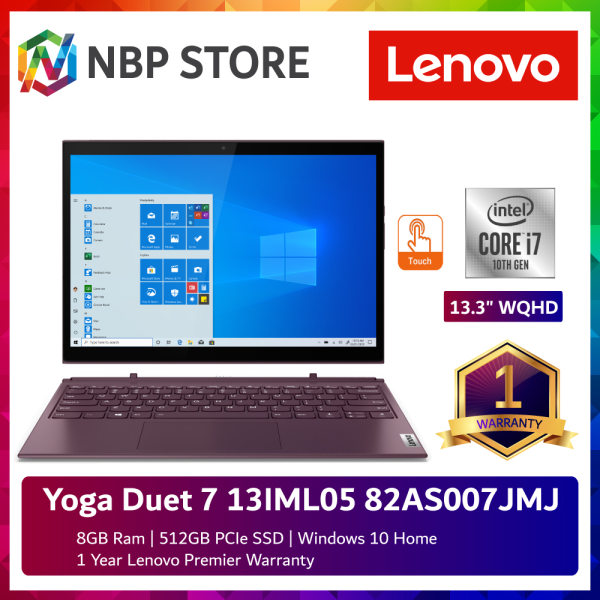 Lenovo Yoga Duet 7 13IML05 82AS007JMJ 13.3 WQHD Touch Laptop Orchid ( i7-10510U, 8GB, 512GB SSD, Intel, W10 ) Malaysia