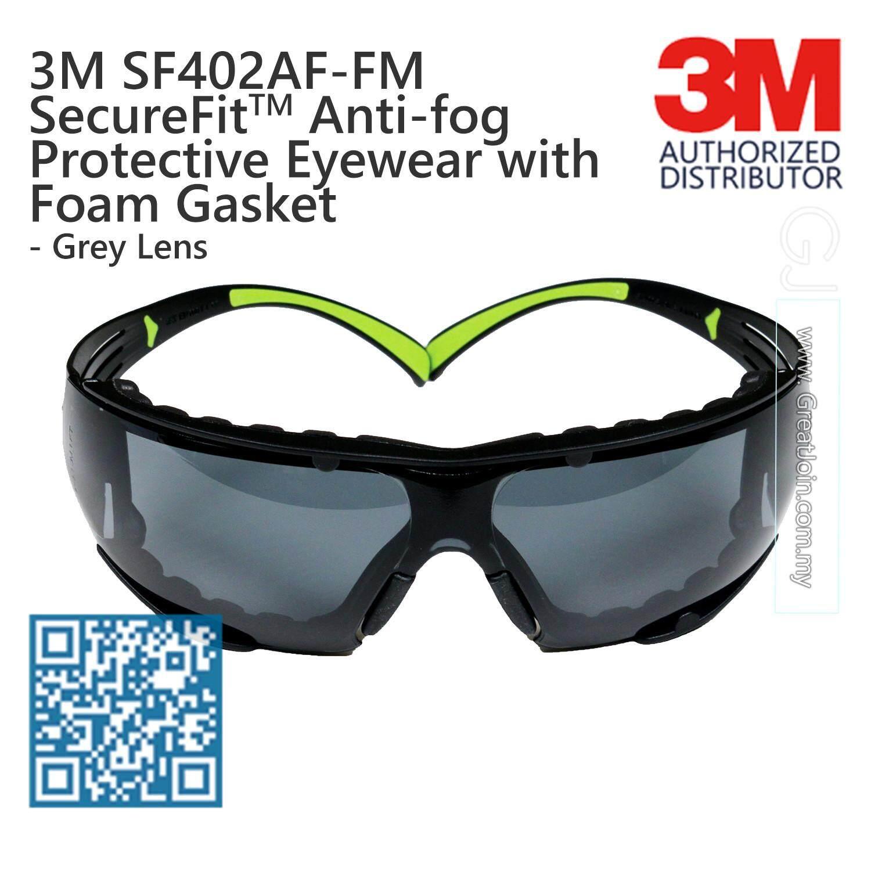 9112f20d5902 3M SF402AF-FM SecureFit Lightest Safety Eyewear with Foam Gasket/ Safety  Glasses Anti Fog