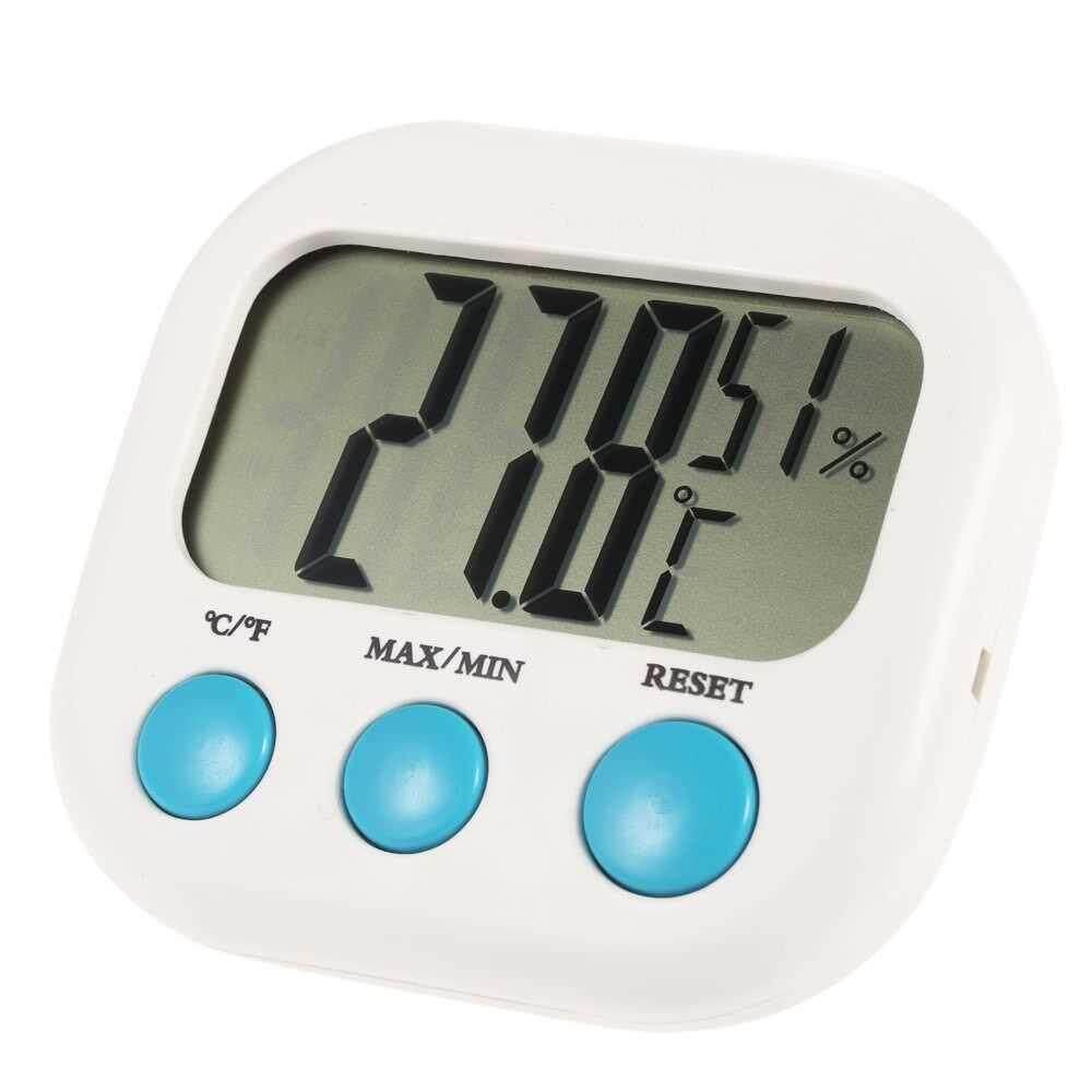 °C/°F Indoor Mini Digital Temperature Humidity Meter Thermometer Hygrometer Maximum Minimum Value Display
